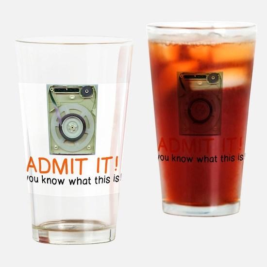 Unique 8 track Drinking Glass