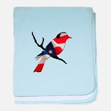 Bernie Bird baby blanket