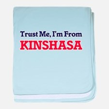 Trust Me, I'm from Kinshasa Democrati baby blanket