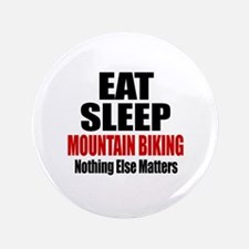 Eat Sleep Mountain Biking Button