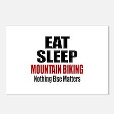 Eat Sleep Mountain Biking Postcards (Package of 8)