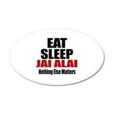 Eat Sleep Jai Alai Wall Decal