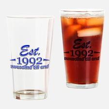 Est 1992 Design Drinking Glass