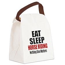 Eat Sleep Horse Riding Canvas Lunch Bag