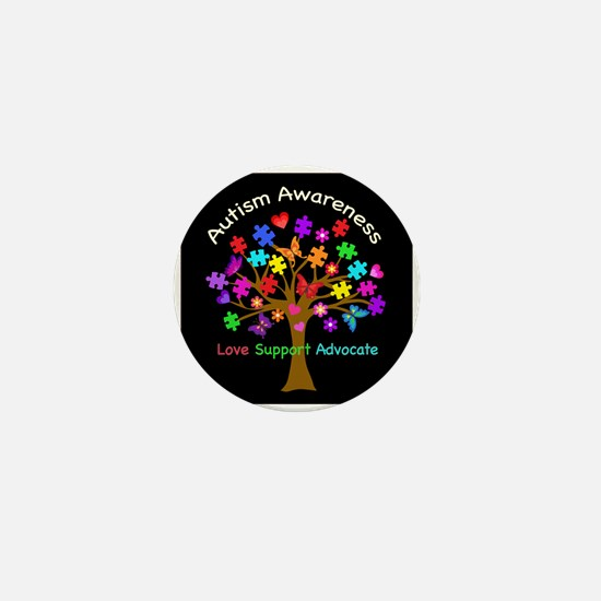 Autism Awareness Tree Mini Button (100 pack)
