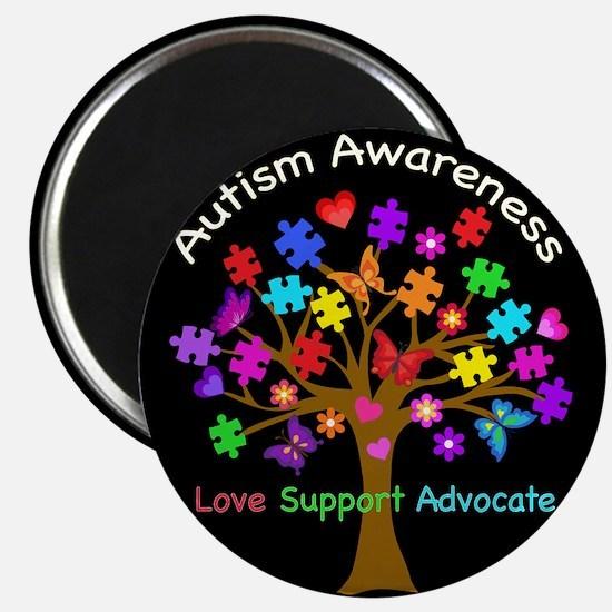 Autism Awareness Tree Magnet
