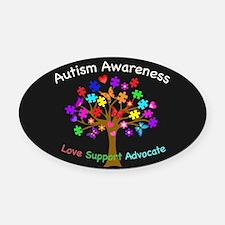 Autism Awareness Tree Oval Car Magnet