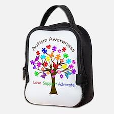 Autism Awareness Tree Neoprene Lunch Bag