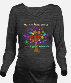 Autism Awareness Tre Long Sleeve Maternity T-Shirt