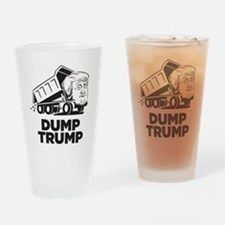 Dump Trump Dump Truck Drinking Glass