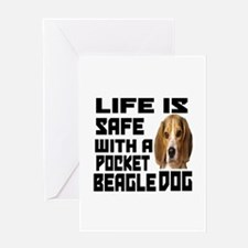 Life Is Safe With A Pocket Beagle Do Greeting Card