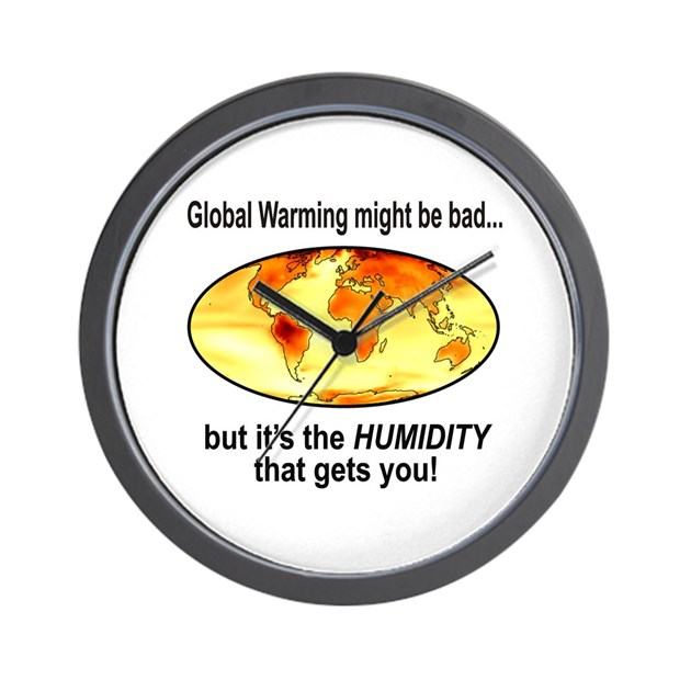 global warming humidity funny wall clock by solopress