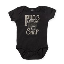 Pugs Make Me Snap Baby Bodysuit