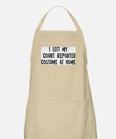 Left my Court Reporter BBQ Apron