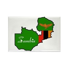 Cool Zambia Rectangle Magnet