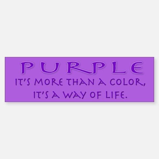 Purple Way Bumper Bumper Bumper Sticker