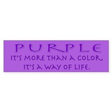 Purple Way Bumper Car Sticker