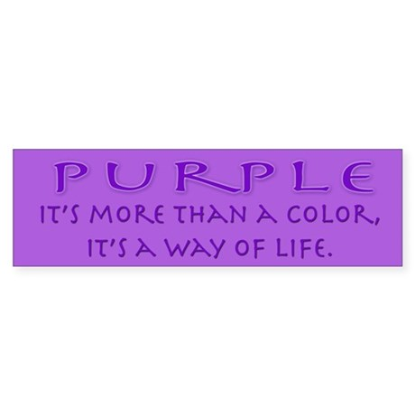 Purple Way Bumper Sticker