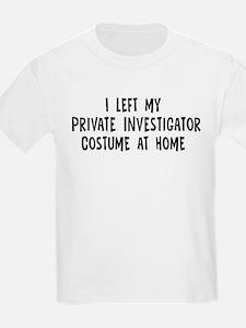Left my Private Investigator T-Shirt