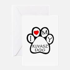 I Love My Kuvasz Dog Greeting Card