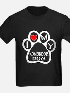 I Love My Komondor Dog T