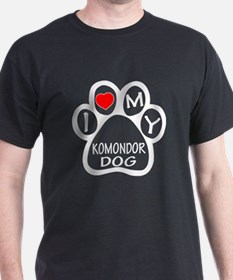 I Love My Komondor Dog T-Shirt