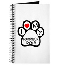 I Love My Komondor Dog Journal