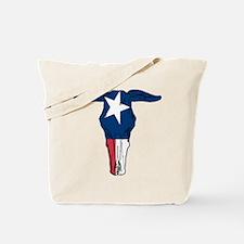 Texas Flag Skull Tote Bag
