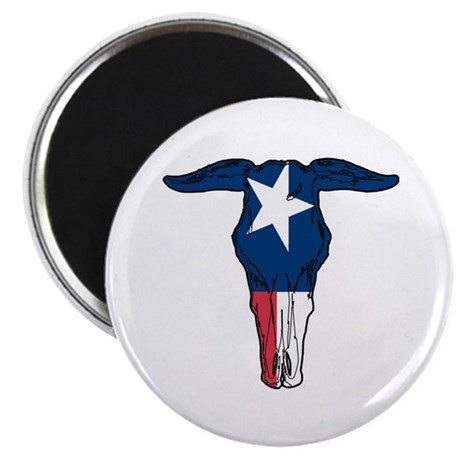 Texas Flag Skull Magnet