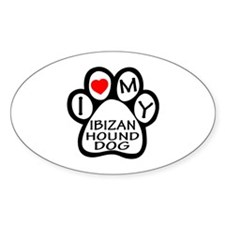 I Love My Ibizan Hound Dog Decal