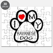 I Love My Havanese Dog Puzzle