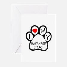 I Love My Havanese Dog Greeting Cards (Pk of 10)