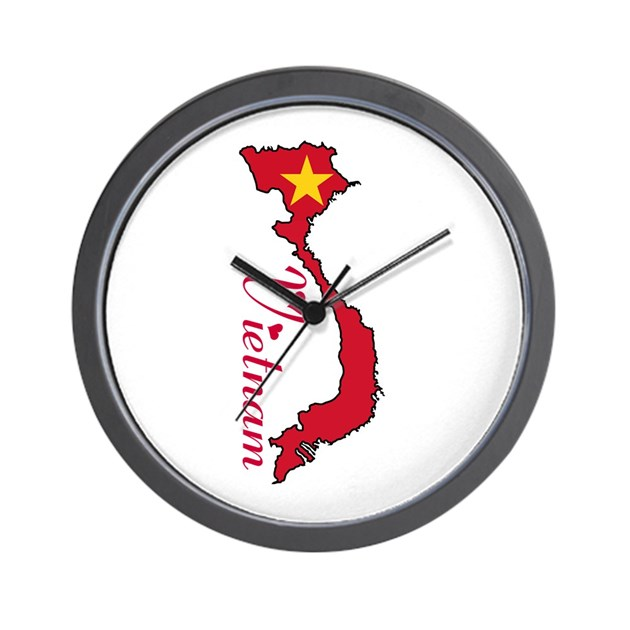 Cool Vietnam Wall Clock By Worldonashirt