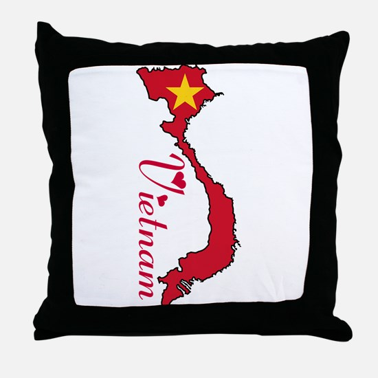 Cool Vietnam Throw Pillow