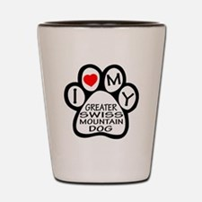 I Love My Greater Swiss Mountain Dog Shot Glass