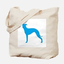 Greyhound Two Lt Blue 1C Tote Bag