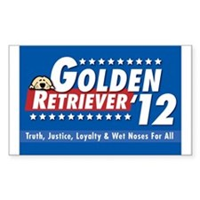 Golden for President Rectangle Decal