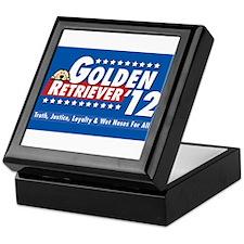Golden for President Keepsake Box