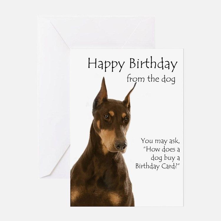 Doberman Birthday Card Greeting Cards