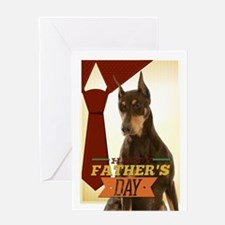 Doberman Fathers Day Card Greeting Cards