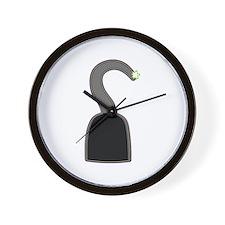 Hook costume Halloween Wall Clock