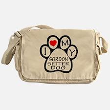 I Love My Gordon Setter Dog Messenger Bag
