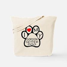 I Love My Gordon Setter Dog Tote Bag
