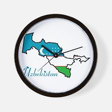 Cool Uzbekistan Wall Clock