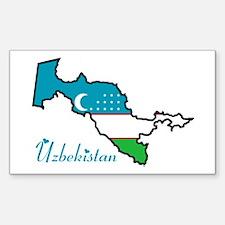 Cool Uzbekistan Rectangle Decal