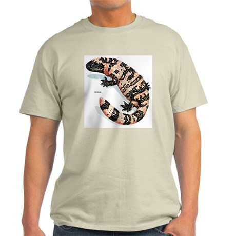 Gila Monster Lizard Ash Grey T-Shirt