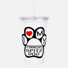 I Love My Finnish Spit Acrylic Double-wall Tumbler