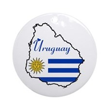Cool Uruguay Ornament (Round)
