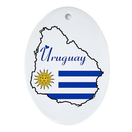 Cool Uruguay Oval Ornament