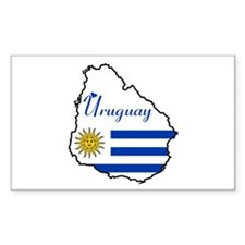 Cool Uruguay Rectangle Decal